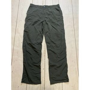 REI Nylon Pants Men's Size Gray Travel Hike Fish zip pockets UPF 50 size 36X34